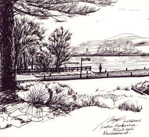 Lake Rotorua - view from Hotel Sudima
